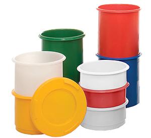Kunststoffonnen zylindrisch